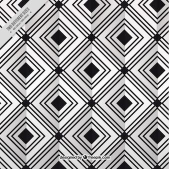Rhombus fond moderne en noir et blanc