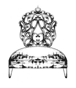Riche chaise baroque