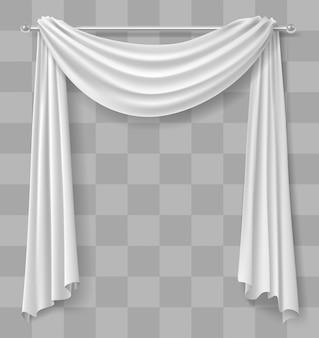 Rideau draperie pour fenêtre blanc