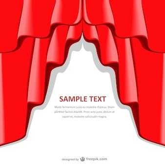 Rideau rouge modèle de fond