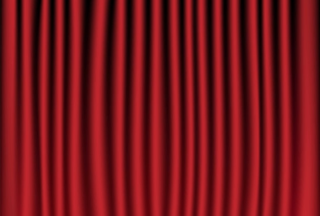 Rideau rouge pour la scène