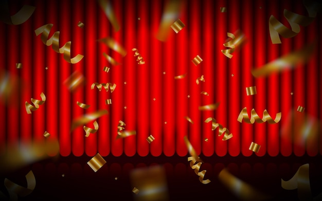 Rideau rouge rideau de théâtre vector background rideau rouge fermé