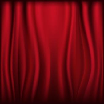 Rideau en velours de théâtre avec lumières et ombres,