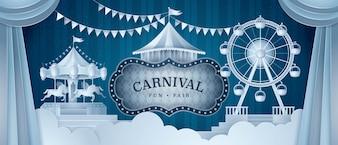 Rideaux Premium avec cadre Circus