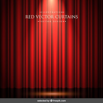 Rideaux rouges fond