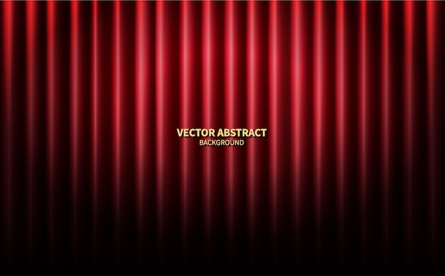Rideaux rouges théâtre scène scène toile de fond. concert de performance de vecteur abstrait.