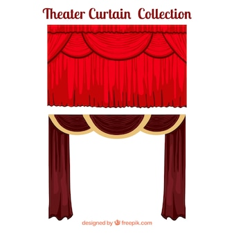 Rideaux de théâtre dans des tons rouges