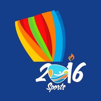 Rio 2016 résumé coloré fond sport