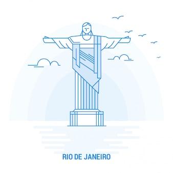 Rio de janeiro blue landmark