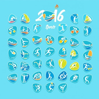 Rio olympic sports 41 logo set