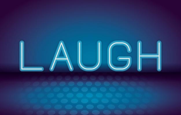 Rire de la publicité au néon