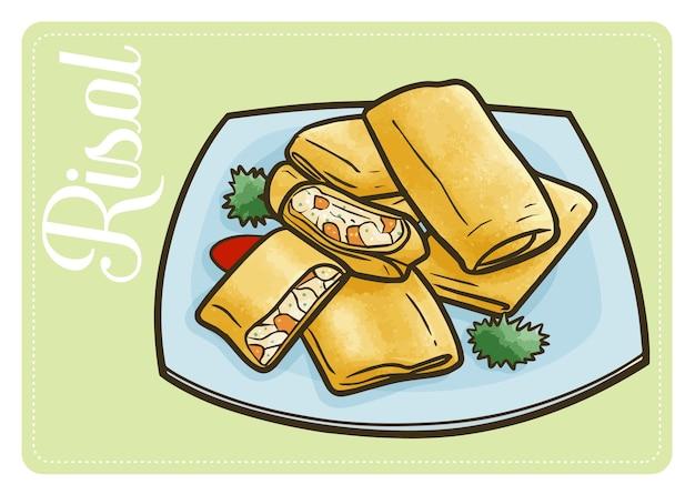 Risol drôle et délicieux, une délicieuse collation traditionnelle d'indonésie