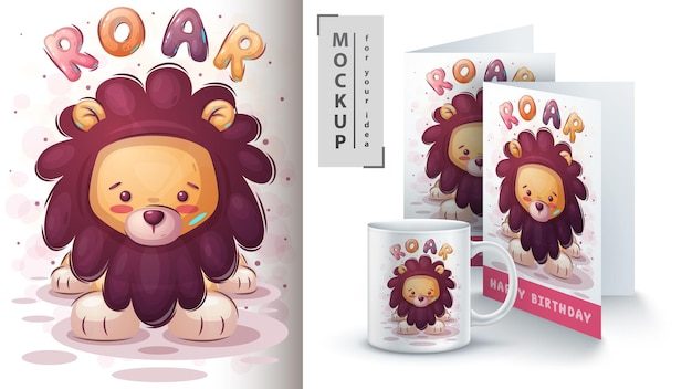 Roar lion - affiche et merchandising