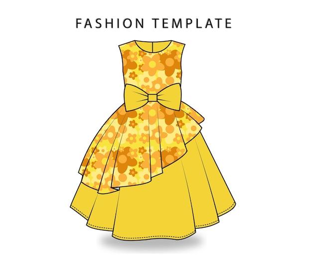 Robe jaune à imprimé de fleurs