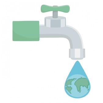 Robinet d'eau avec design goutte