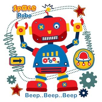 Robo le dessin animé drôle super-héros