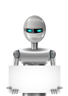 Robot avec bannière