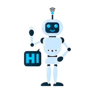 Robot, chatbot, technologie, science-fiction 3d.