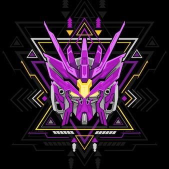 Robot à géométrie sacrée violet