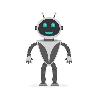 Robot heureux. illustration.