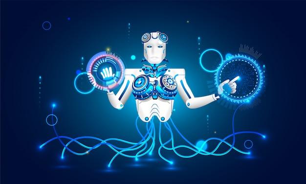 Robot humanoïde.