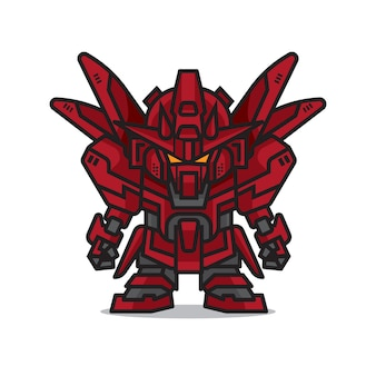Robot mecha rouge mignon