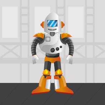 Robot métal illustration premium