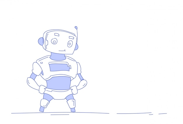 Robot moderne robot mignon intelligence artificielle