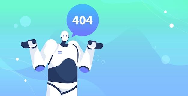 Robot avec page non trouvée erreur 404