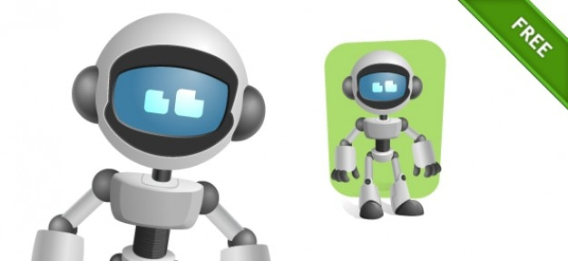 Robot avec le vecteur de caractères de la visière