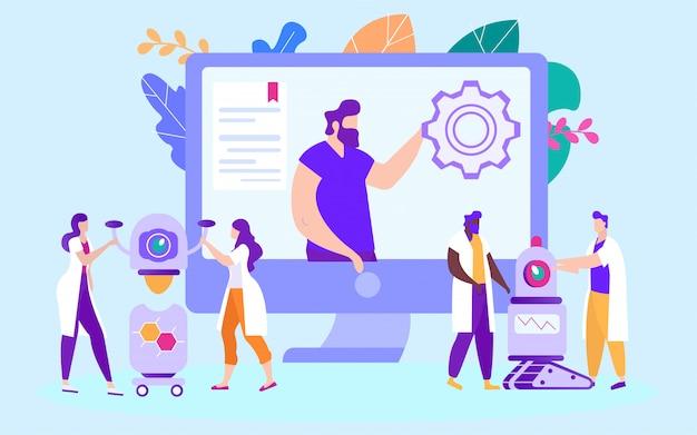 Robots d'installation et de production. étudier en ligne. e-learning. la formation en ligne