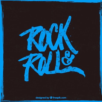 Rock and roll affiche