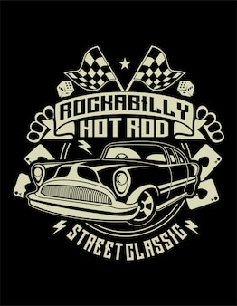Rockabilly hotrod