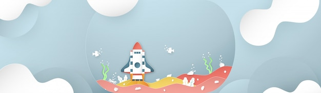 Rocket est en train de décoller de la mer.