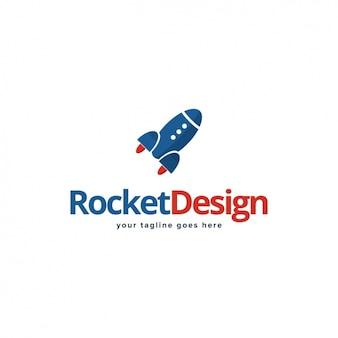 Rocket forme logo modèle