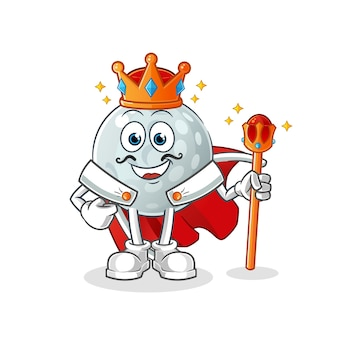Roi de la balle de golf. personnage de dessin animé