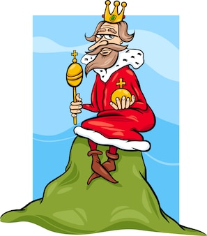 Roi de la colline en disant dessin animé