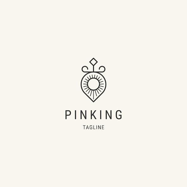 Roi de la conception du logo de la ligne de localisation