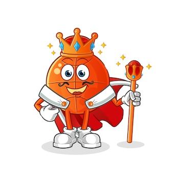 Roi du basket. personnage de dessin animé