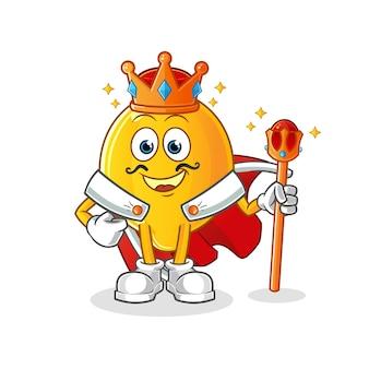 Roi du citron. personnage de dessin animé