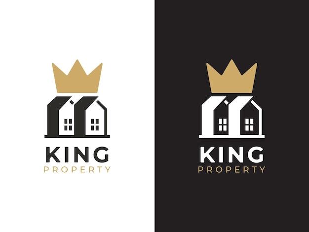 Roi du concept de conception de logo de propriété