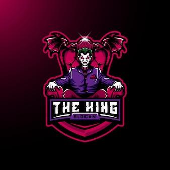 Le roi est assis sur le logo du trône esport