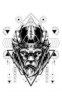 Roi de gorille géométrie sacrée