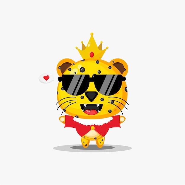 Roi léopard mignon