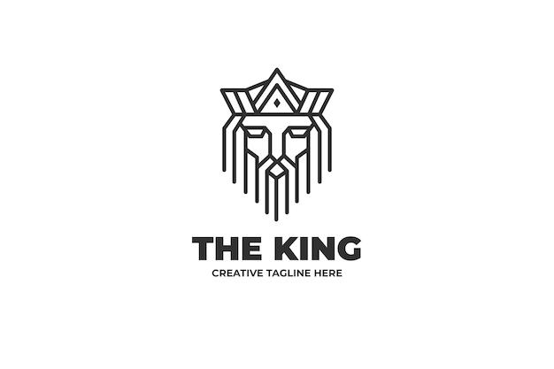 Roi lion majestueux monoline business logo
