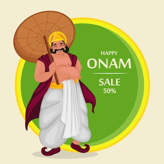 Roi mahabali. bonne fête d'onam au kerala