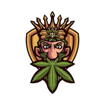 Roi mascotte de marijuana