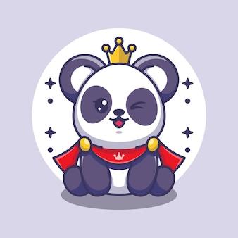 Roi panda mignon drôle