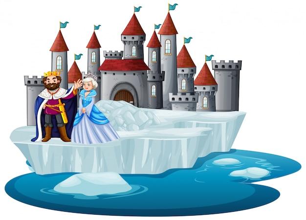 Roi et reine au château