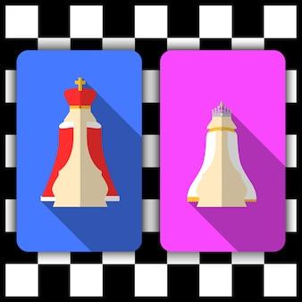 Roi et reine d'échecs